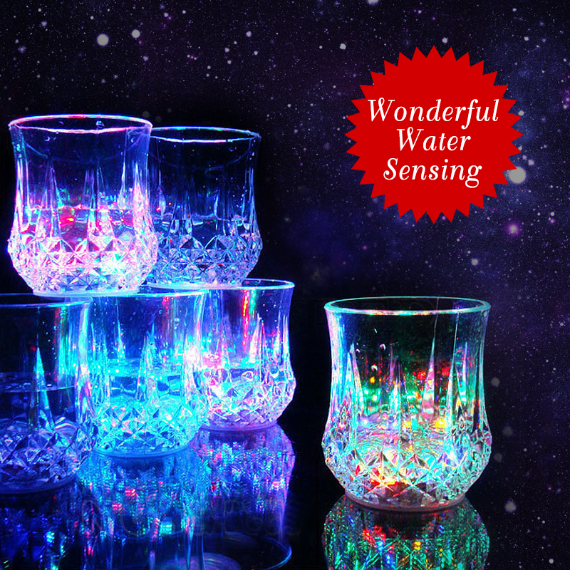 Automatic Dragon Bright Flashing Cup Mug Bar Water Sensor Luminous Cup NEW