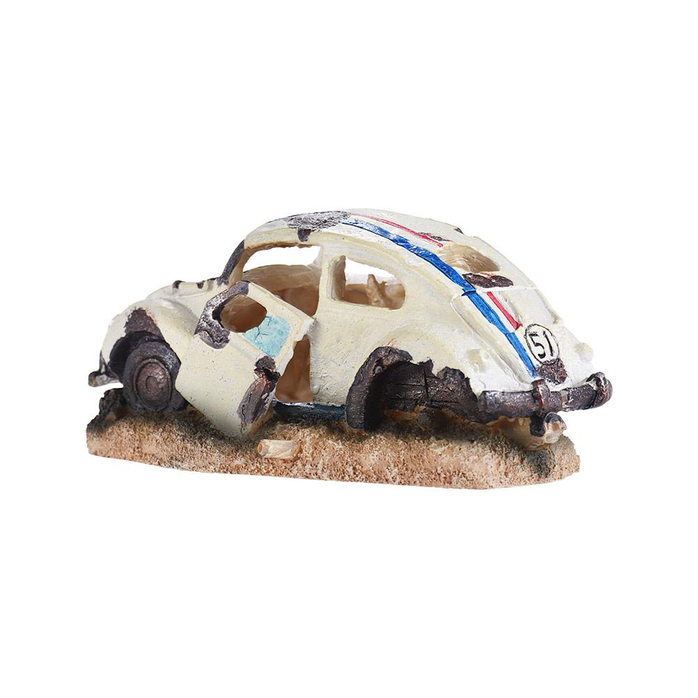 1 Adet Reçine Fish Tank Süsleme Mağarası Akvaryum Dekorasyon Hasarlı Araç