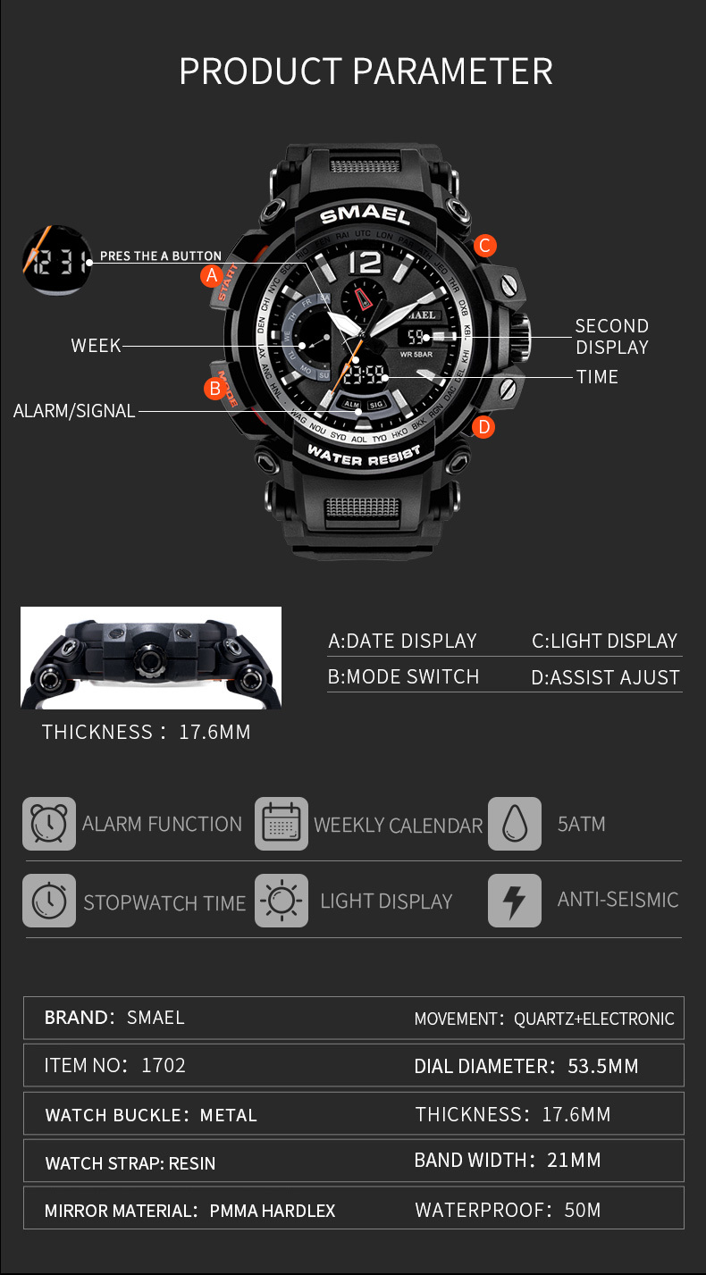 11 led wrist watches