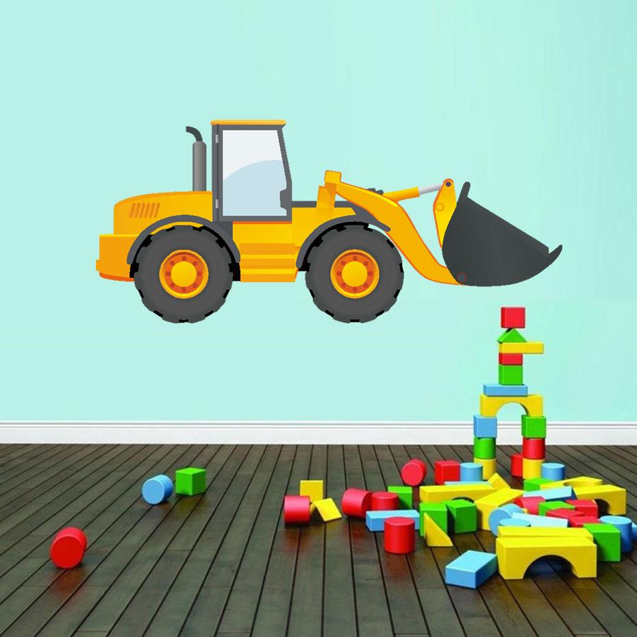 Peinture Murale ferme Bleu Kids Decal Wall Art tracteur autocollant chambre 3D