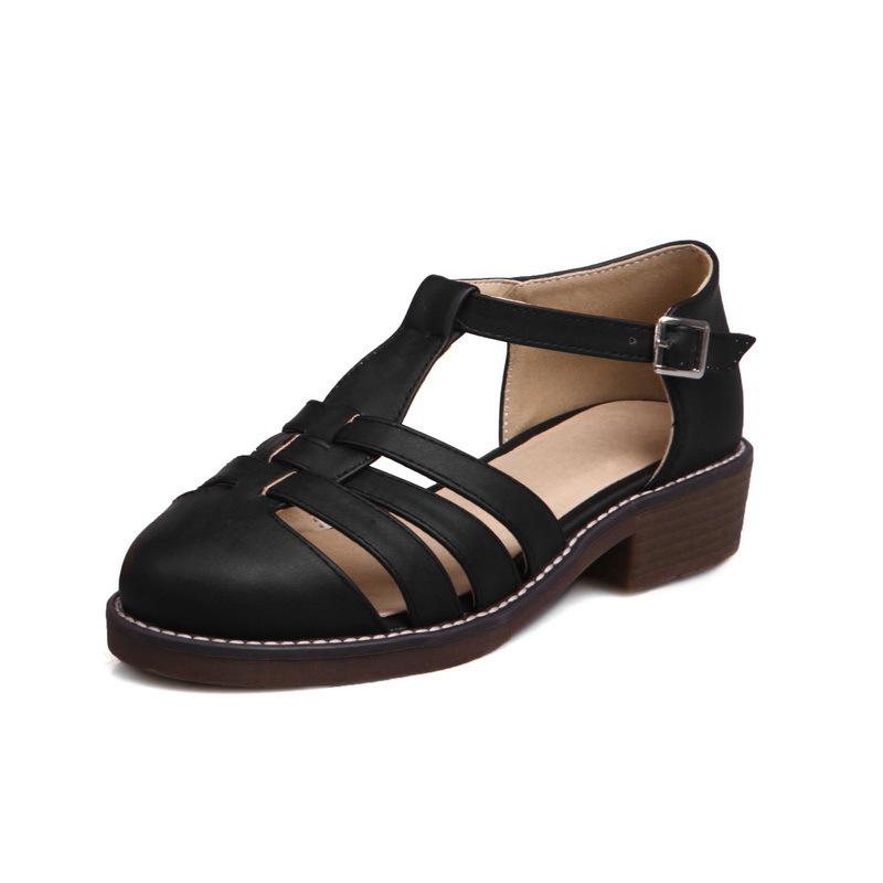 Forfait Baotou Hot2019 avec volonté Rome chaussures pour femmes Xia Chang Living H300 -4