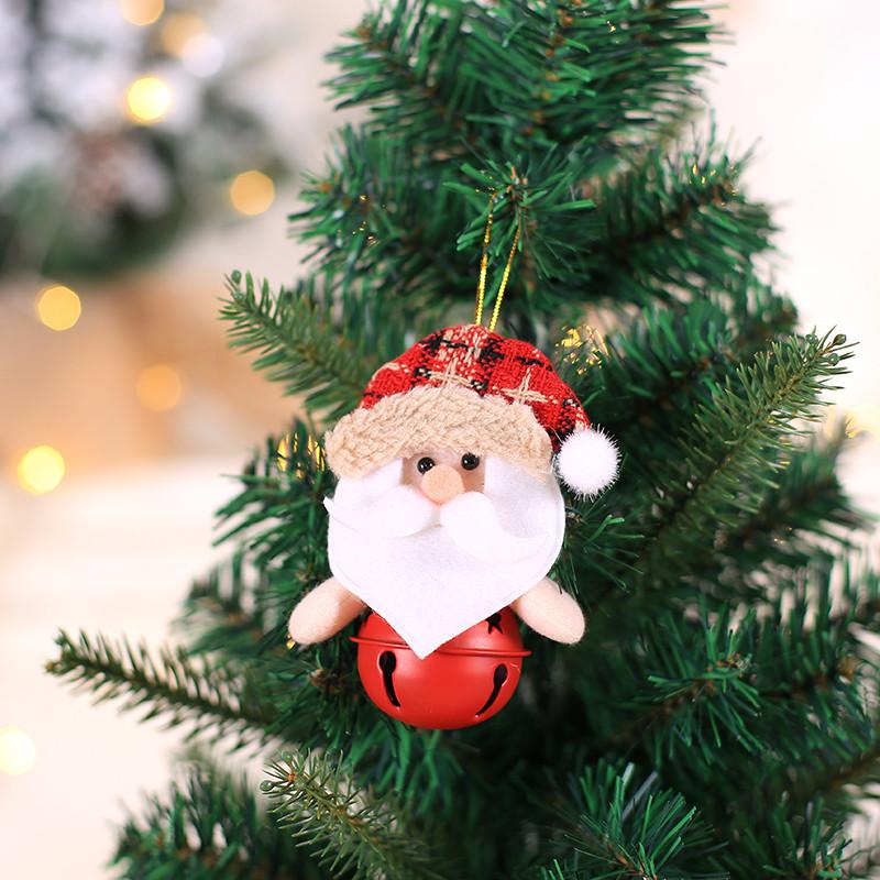 10Pcs Christmas Jingle Bells Crystal Charm Pendant For DIY Decoration Craft