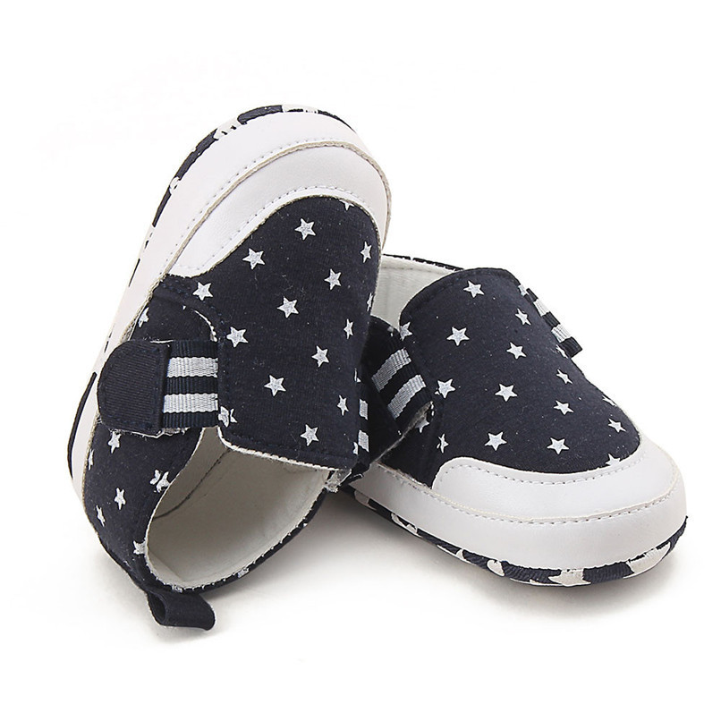 Baby Shoes For Girls Boys Newborn Infant Baby Girl Boy Star Print Shoes Soft Sole Anti-slip Shoes Baby First Walker Shoes M8Y11 (4)