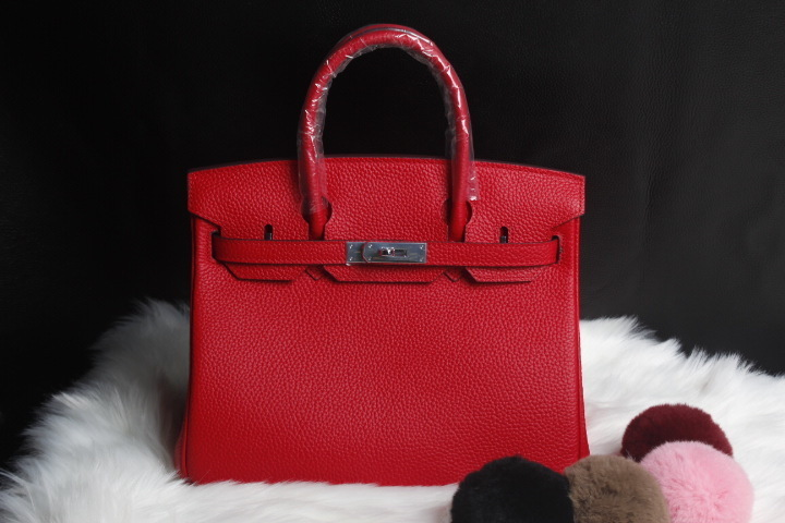 Elegant2019 Leather Genuine Woman Bag Litchi Grain Head Layer Cowhide Silver Buckle Single Shoulder Span Handbag 25