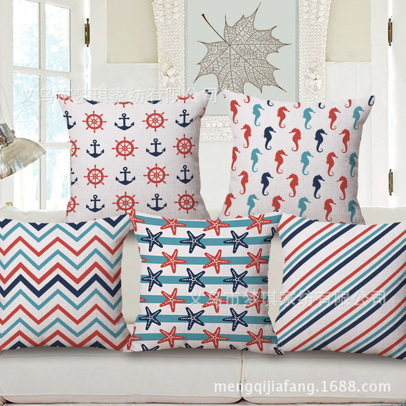 New Pattern Land In The Sea Breeze Embrace Pillow Case Fashion Cotton Home Furnishing By Pillow Case Office Siesta Pillow