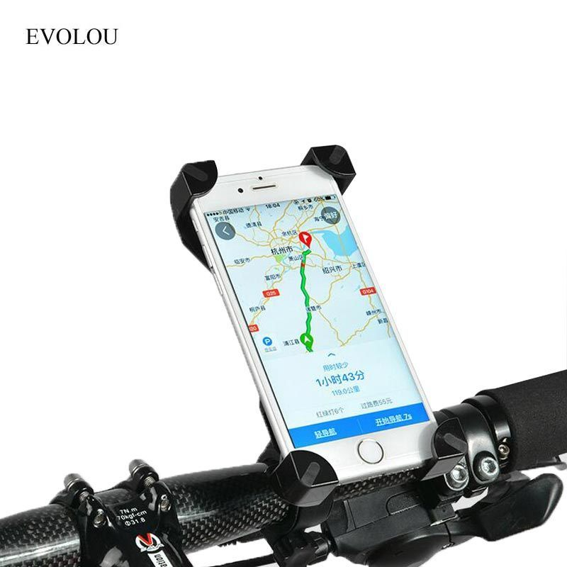 Universal Bike Holder Cellphone Mount Handlebar Stand for Iphone 7 6s Plus Galaxy S8 S7 Edge GPS Mobile Support Bicycle Holder