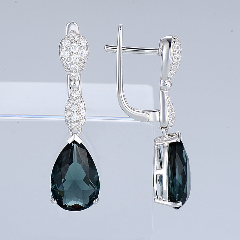Silver Earrings - E303468BLGZ1SL925-SV9