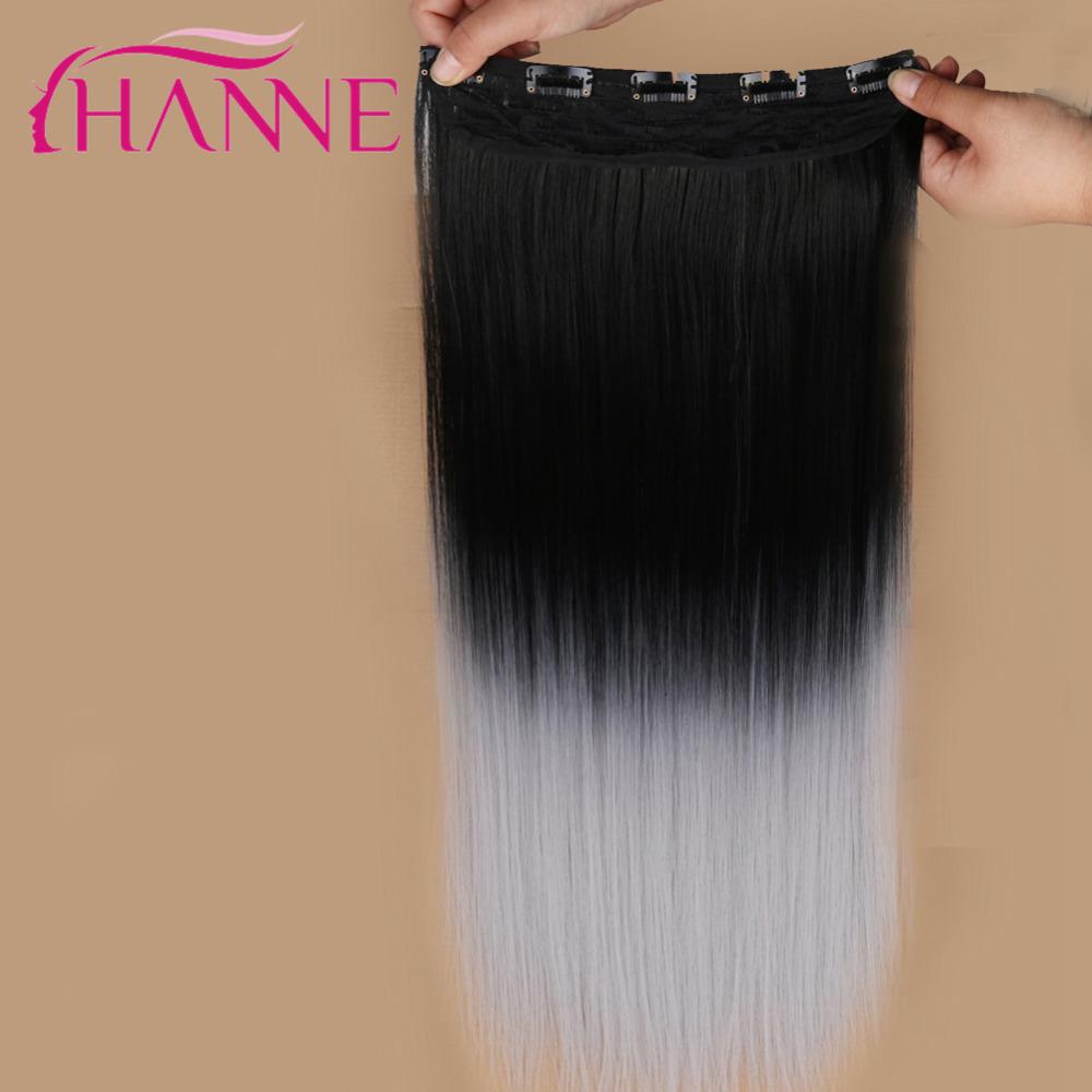 grey clip in hair straight12