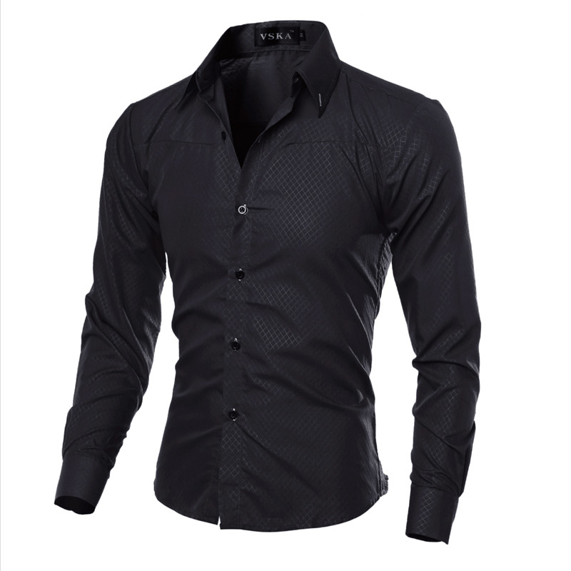 Vska Mens Long Sleeve Comfort Soft Classic Dress Shirt