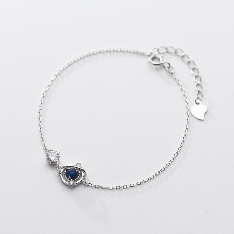 Cute Bracelets Black Cat Moon Star Charms Gold Link Chain for Teen Girls Jewelry