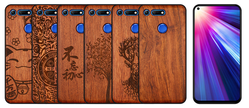 BOOGIC Original Wood Phone Case For Huawei Honor View 20 V20 V10 Wood +TPU Cover For Honor 8x Play 10 Ultra-Thin Wooden Coque (1)