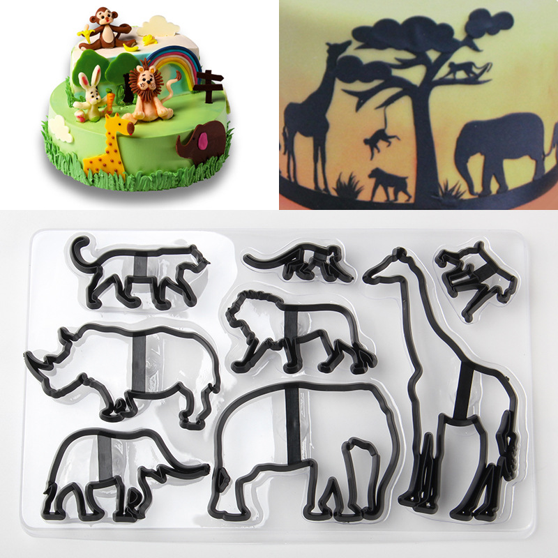 Patchwork Cutters Safari Animales Silueta SET Sugarcraft Cortadores Envío rápido