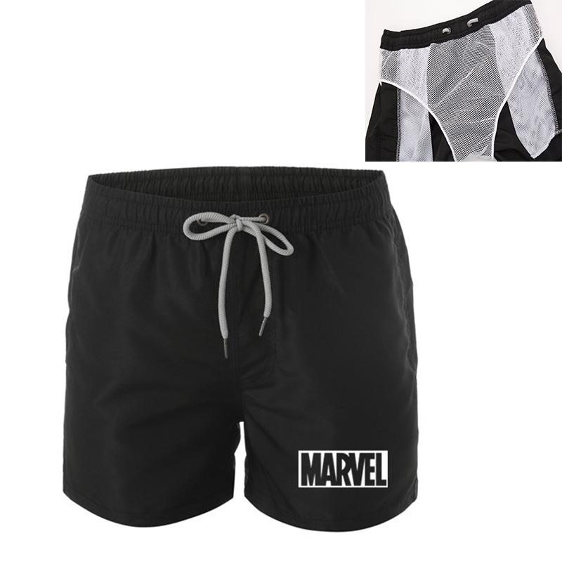 Mens Quick Dry Cargo Boxer Trunk Swim Short Gym Surf Pants Boardshorts Swimwear