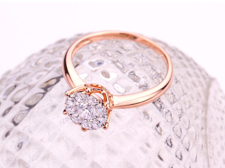 wedding ring rose gold big