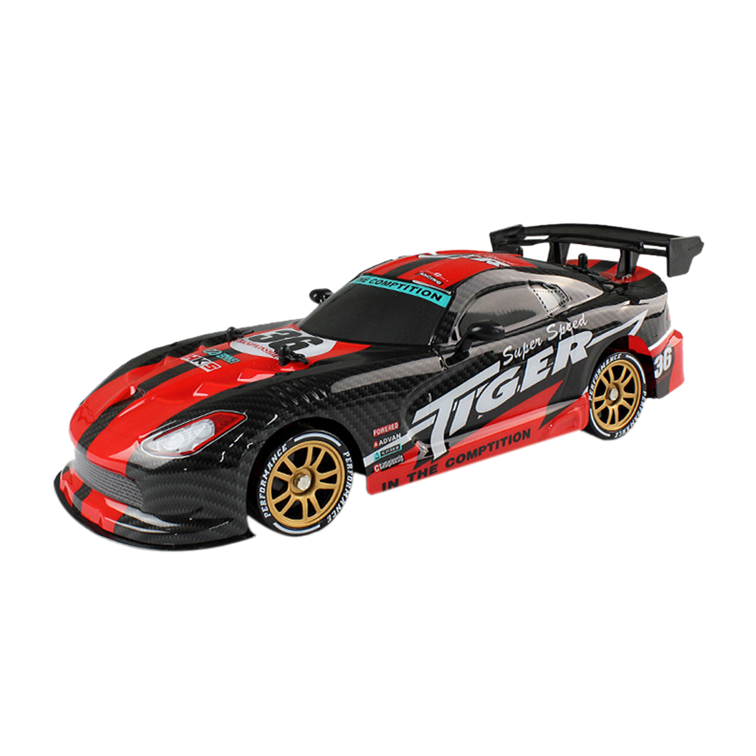 TAAIW C1 2.4G 1:16 4-Wheel Drive Remote Control Drift Racing Simulated Tire Toy for Children - Red/Blue