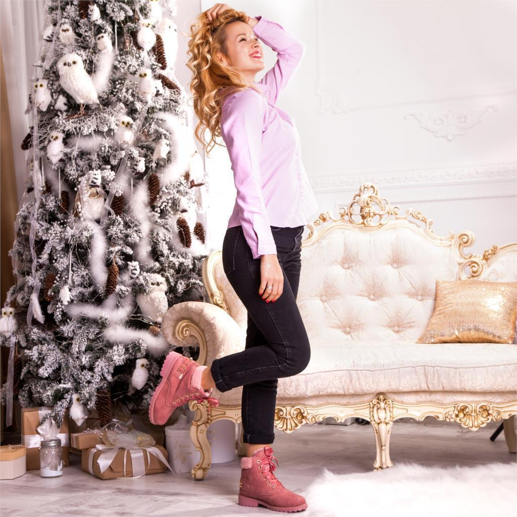 women boots winter ankle fashion pearl