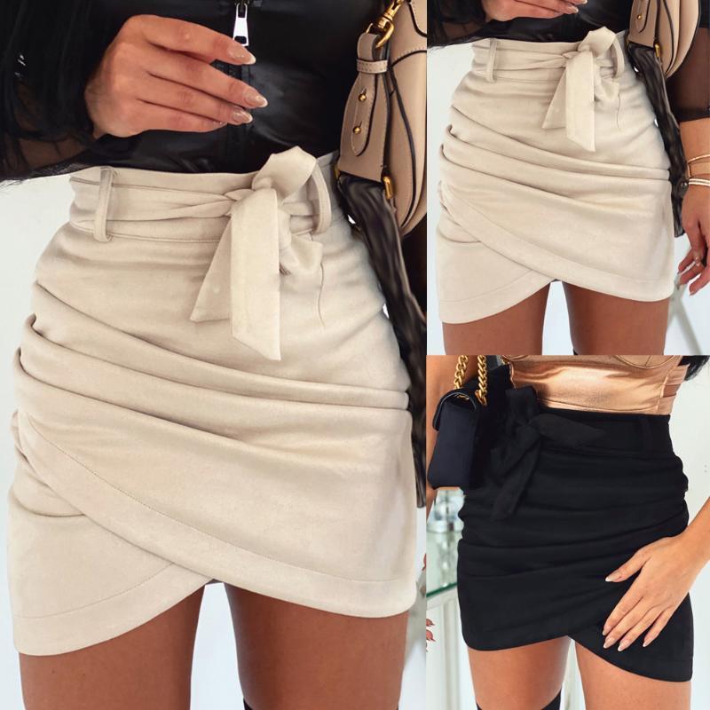 Taille Haute Corps Avec Extensible Imprimé Femmes Mesdames Filles Micro Mini Jupe