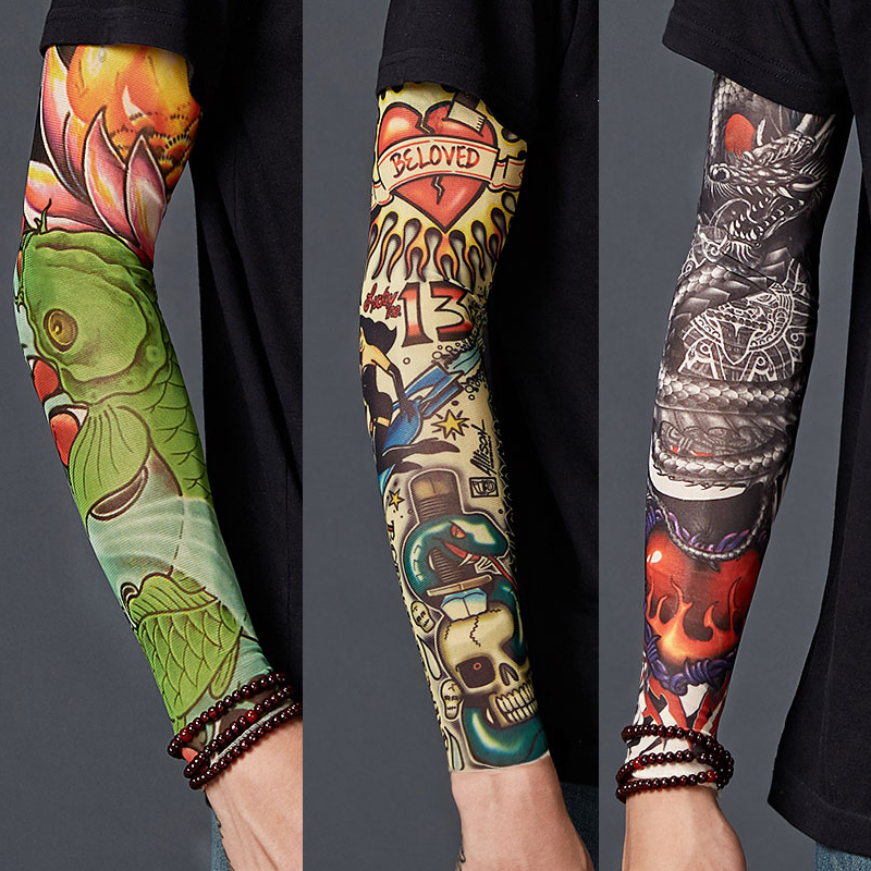 Male Sealion UV Sun Protective Outdoors Stretchy Cool Arm Sleeves Warmer Long Sleeve Glove