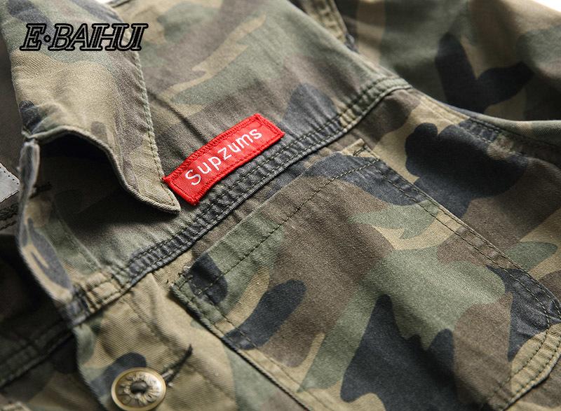 E-baihui Erkekler Kamuflaj Denim Ceket Slim Fit Kamuflaj Jean Ceket İçin Adam Trucker ceketler giyim ceket Boyut S-4XL 2025 T200117 Aşağı çevirin