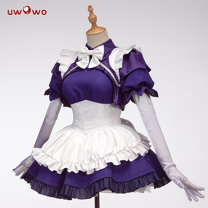 The Promised Neverland Costume Isabella Sister Krone Dress Maid Apron Cosplay