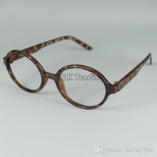 Cheap Frame Fashion Baby Glasses Frame Kids Decorative Glasses Children Arale Eyeglasses No Lens Lovely Round Plastic Frame