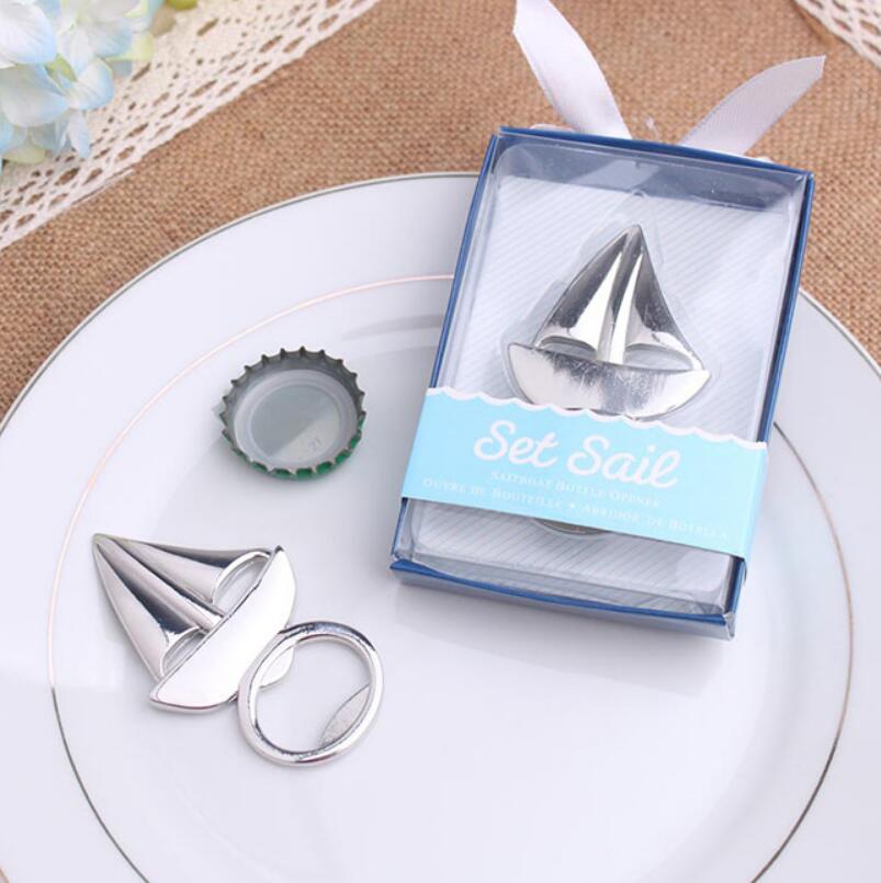 Silver Color Ocean Sailing Boat Shape Beer Bottle Opener Wedding Gift Souvenir S