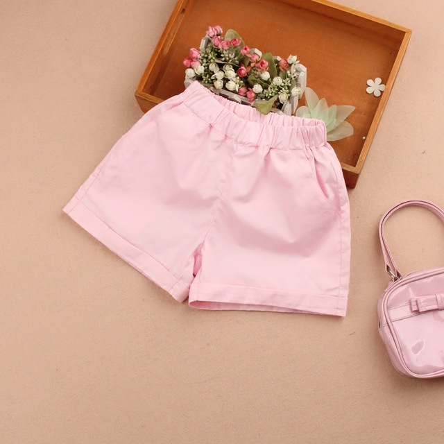 New-Girls-Shorts-Pants-Kids-Summer--Cotton-Elastic-Waist-White-Trouser-Teenage-School-Girls-Hot.jpg_640x640