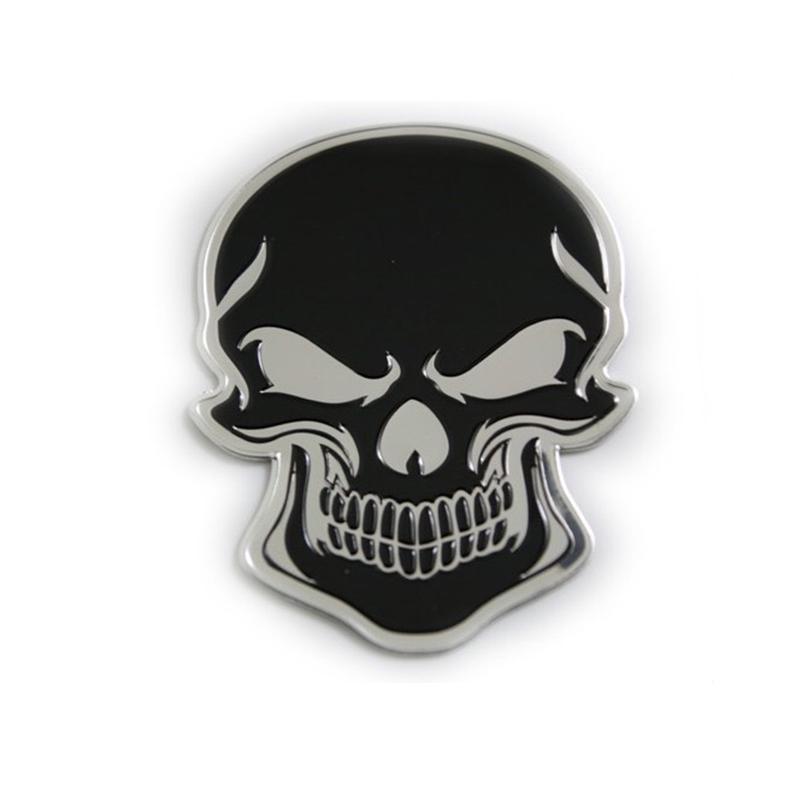1 X 3D Crâne Emblème Autocollant Décalque Pour Voiture Moto Ordinateur Portable Guitare 31 mm x 50 mm