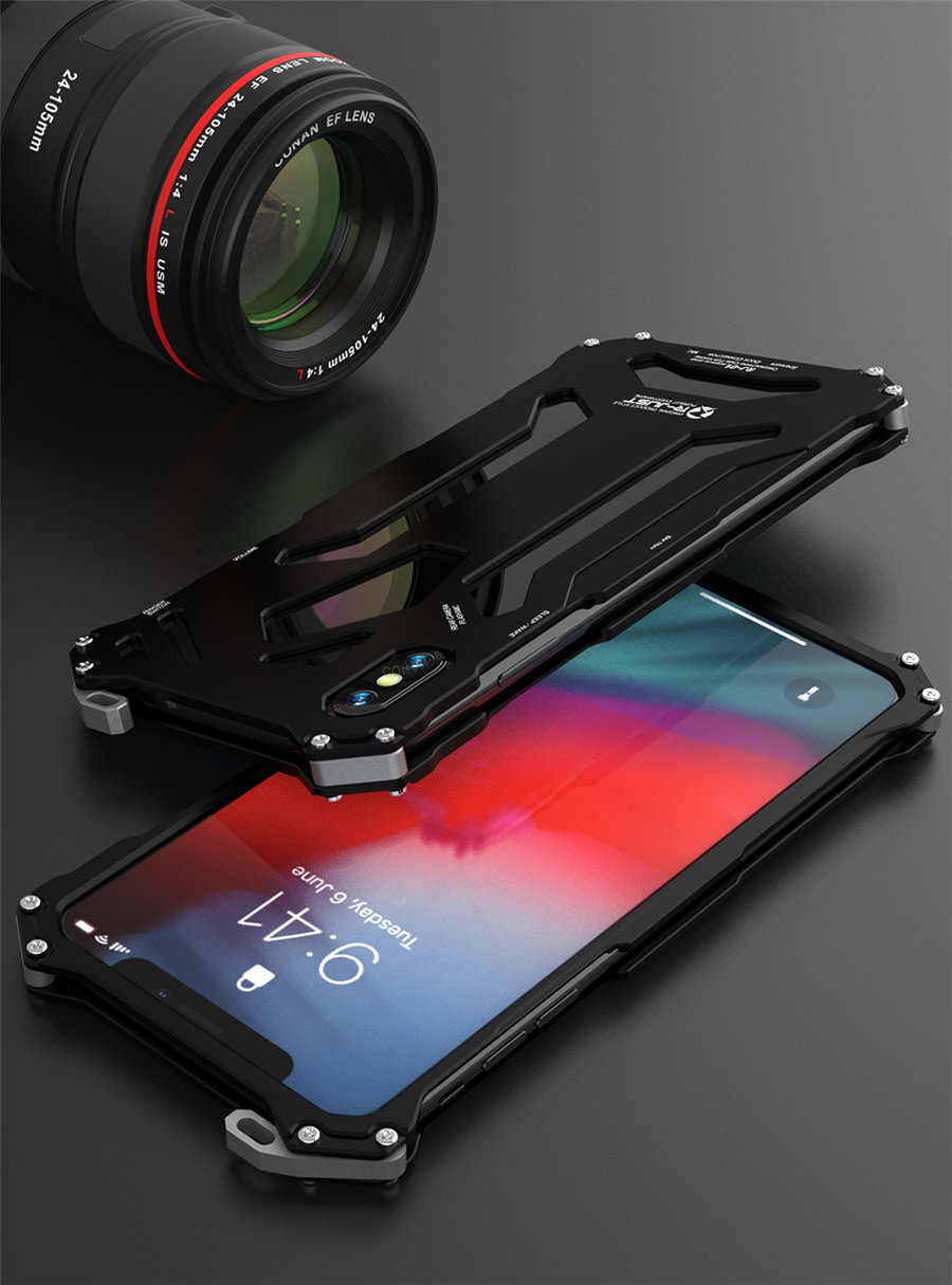 Cool Metal Phone Case For iPhone XS Max Case Cover For iPhone XS R-JUST Gundam Aluminum Case Coque Capa Funda For iPhone XR (11)