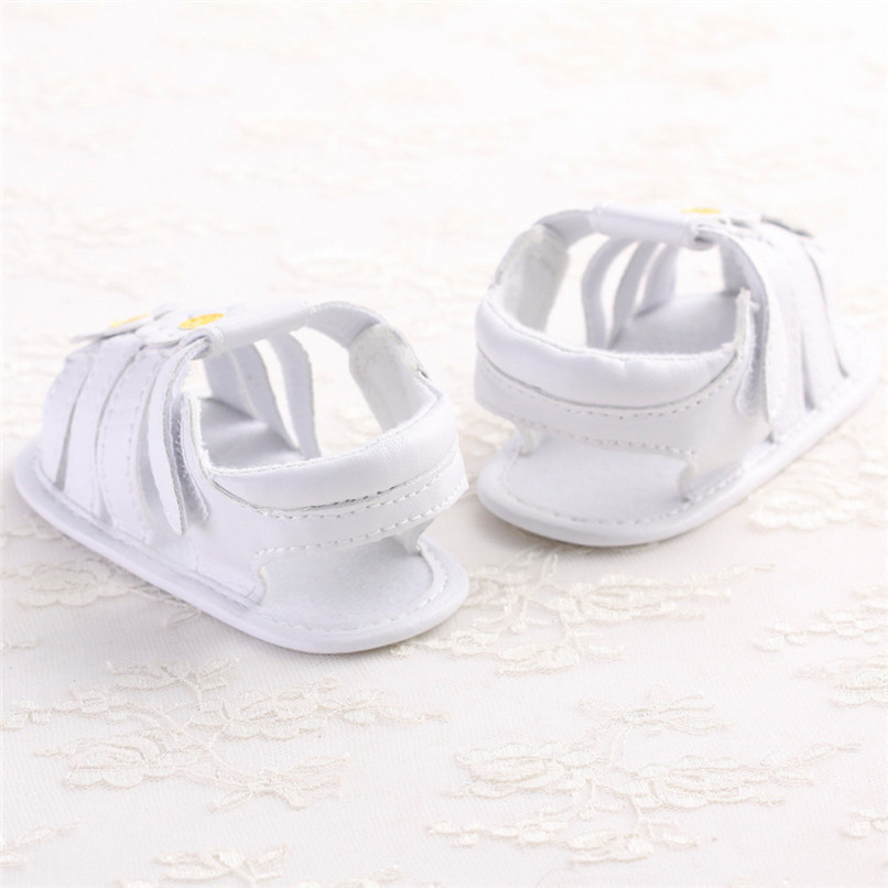 Summer Baby Girl Shoes Toddler Newborn Baby Girls Solid Flower Sandals Soft Sole Anti-slip Shoes Baby Girls Sandals M8Y16 (11)