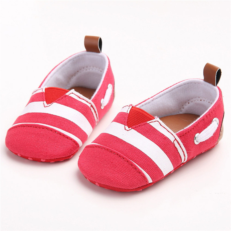 Baby Girls Shoes Fashion Toddler Baby Girl Stripe Canvas Shoe Sneaker Anti-slip Soft Sole First Walker Suit For 0-18M M8Y04 (5)