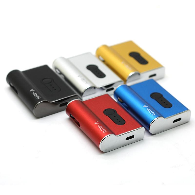 Authentic V mini Box Mod Kit 450mAh Vape Battery E Cigarette Vaporizer Voltage Adjustable Fit 510 Carts Cartridges