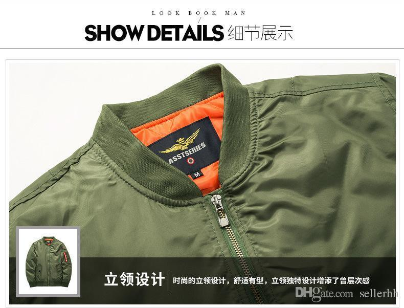 Designer Jackets Men's Autumn And Winter Large Size Fat Sports And Leisure Collar Cotton Jacket Air Force First Pilot Suit 6xl