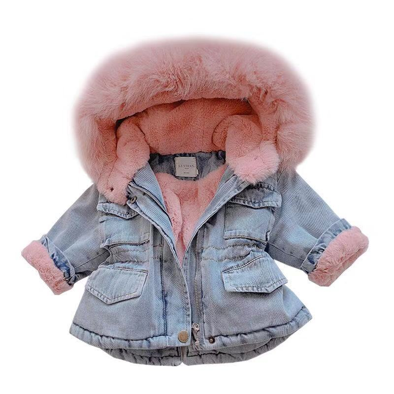 Lightweight Winter Warm Hooded Cute Ears Solid Feather Jacket Zip Thick Tops Boys Girls Down Coat 0-4T