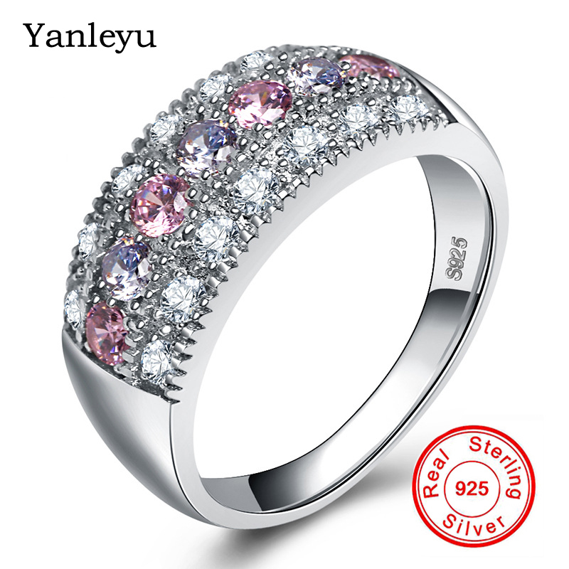 2019 Yanleyu Fashion Bohemian Ring Pure 925 Sterling Silver