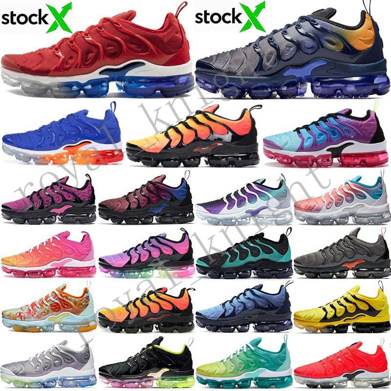 2020 Stock X Tn USA plus Persian Violet Marine Midnight active Femmes Hommes Chaussures de course Royal Game Designer Chaussures Baskets Taille 5,5 à