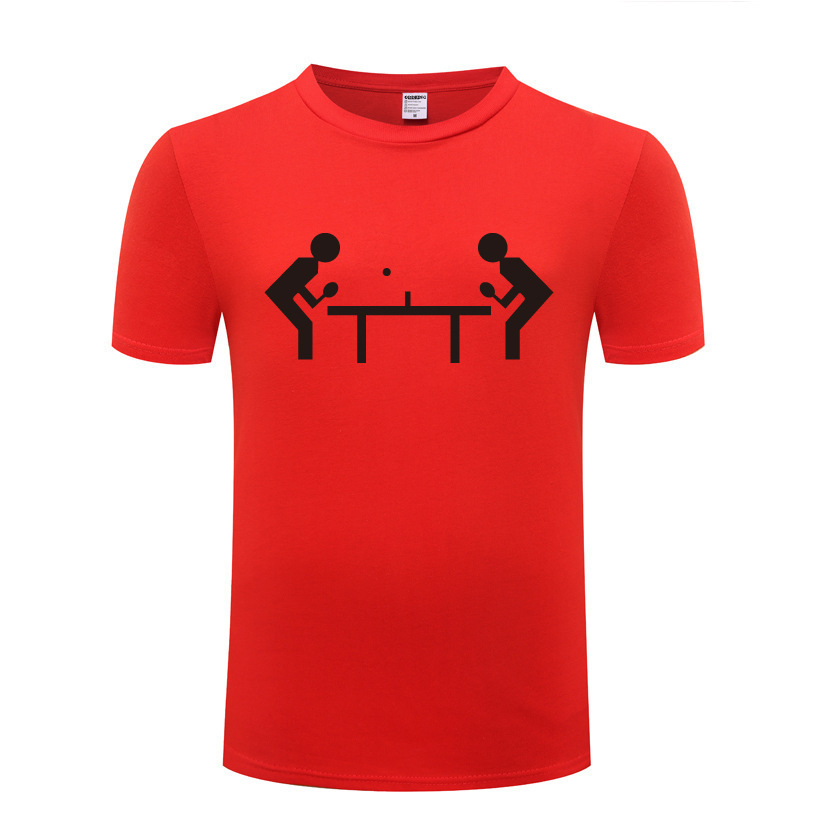 New Trend Printing T-shirt Cool Table Tennis - Ping Pong Game T Shirt Top Punk Style Rock Man Male Loose Tops Brand