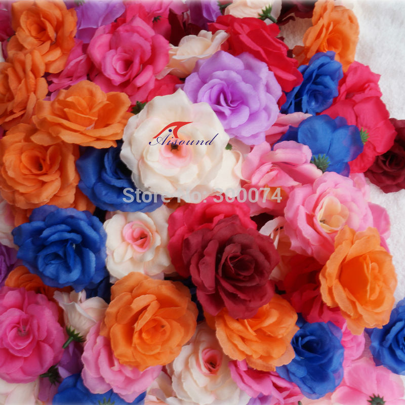 Color rose flowers