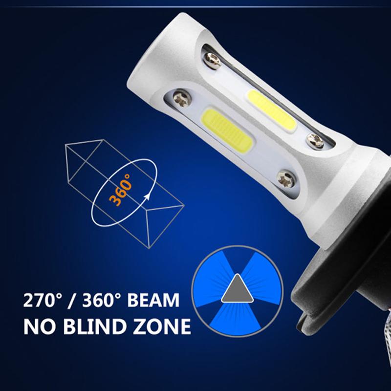 VicTsing 2Pcs H13 9008 200W 20000LM LED Headlight Kit Power Bulbs 6000K White H13 LED Bulb Car Light DC 12V 24V Auto Headlights (4)