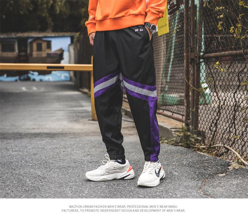 Loose Hip Hop Cargo Pants Men Camouflage Patchwork Harem Mens Trousers Streetwear (51)