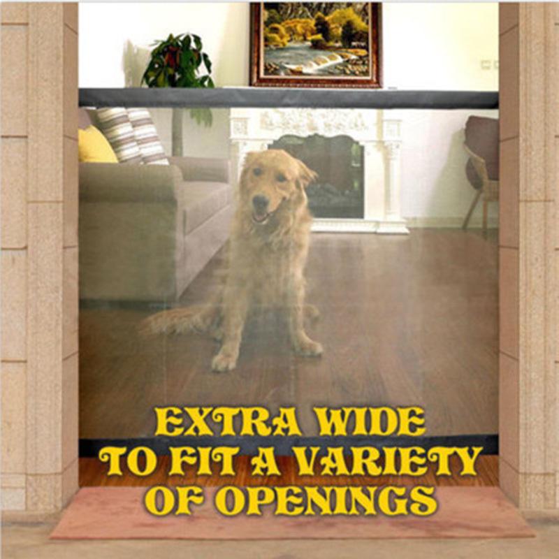 Cane portatile pieghevole protezione prodotti di sicurezza Mesh Magic Pet cancello cani guardia di sicurezza bambini Baby Fence Q190530