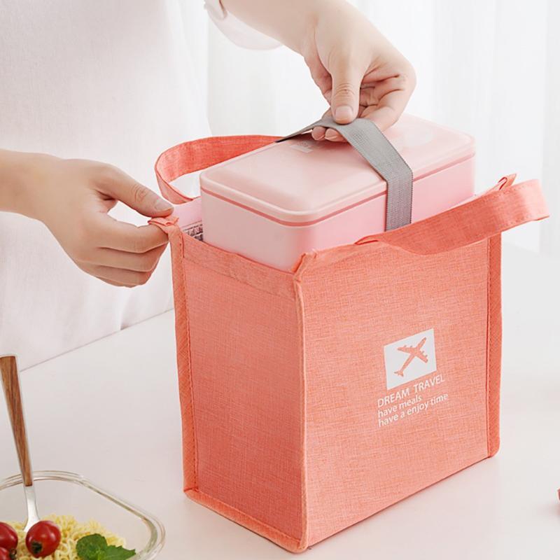 Isolé Thermal Cooler Bag Lunch Time Sandwich Boisson Fraîche Stockage réfrigéré Zip