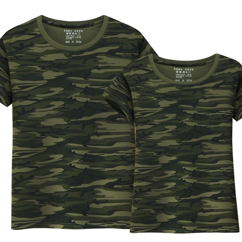 NUOVA Linea Uomo Militare Mimetica Camo T-Shirt Esercito Combattimento Estate Top Tee