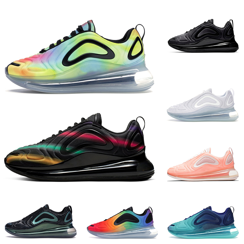 nike air max 720 2019 chaussures de running TOP pour hommes Be True Pride GREEN CARBON Baskets sport blanches noires Northern Lights pour femmes,