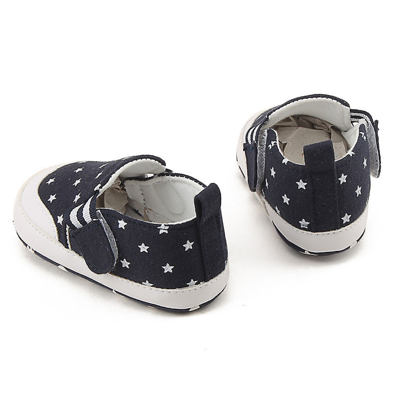 Baby Shoes For Girls Boys Newborn Infant Baby Girl Boy Star Print Shoes Soft Sole Anti-slip Shoes Baby First Walker Shoes M8Y11 (7)