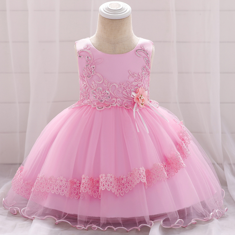 NEW Baby Kids Girls Pink Rosette Tutu Party Dress Size0-3 6-9-12-24 months size2
