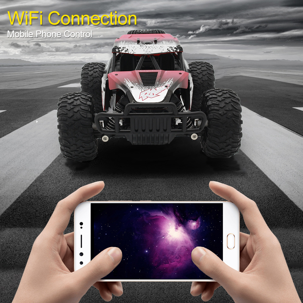 2.4G High Speed Remote Control Electric Car Drive Toy Vehicle Mobile Phone Wifi Link Control with Camera Birthday Gifts TSLM1
