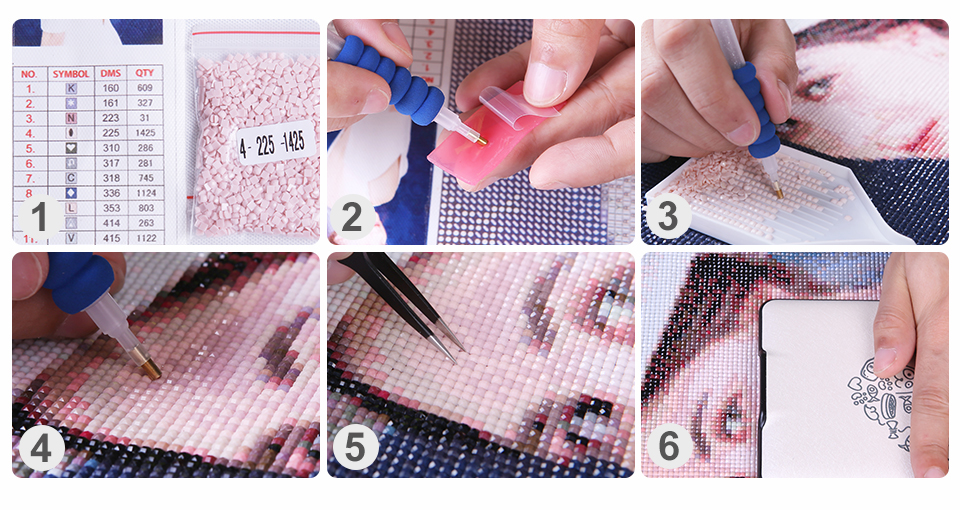 Diamond Painting Production steps