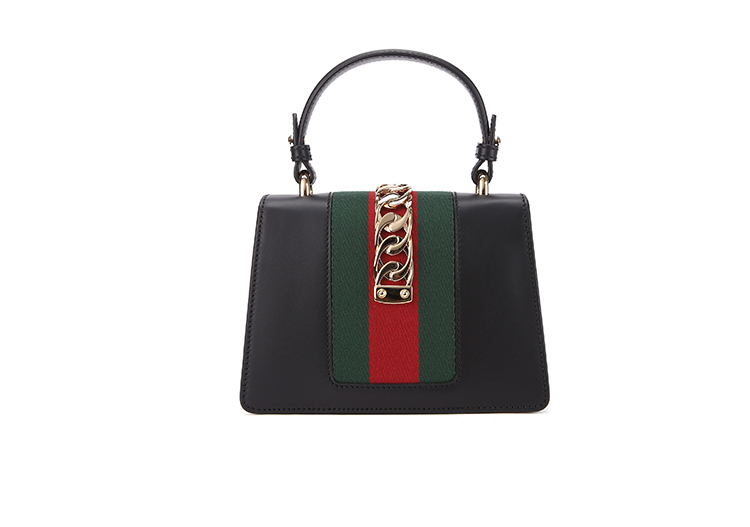 19 spring and summer new products GUCCI / Gucci ladies SYLVIE series cowhide striped fashion ladies hand bag shoulder bag 470270D4ZAG8605