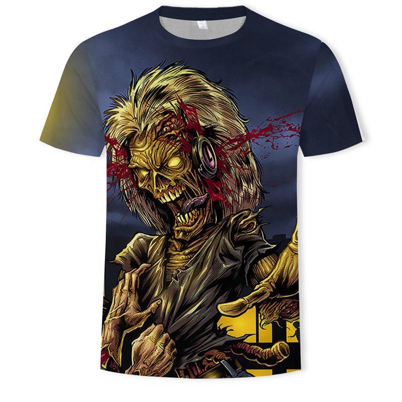 Heavy Metal Skulls Head Rock AC//DC T-Shirt  Angry Metal